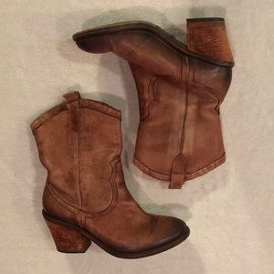 Sam Edelman Nile Brown Short Cowgirl Boots 8 1/2M